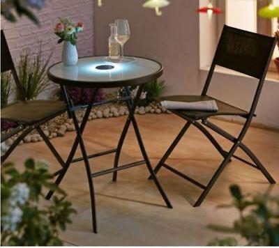 Balkon Set Bistro Set LED Gartenmöbel Set 3 Tlg. Impressionen