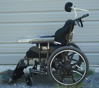 WHEELCHAIR COMPLETE, NEARLY NEW