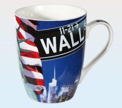 Bank New York (Tasse New York Wall Street Porzellan Becher Kaffeetasse Kaffeebecher USA Banker)