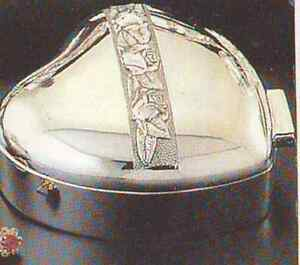 Antique finished silver plated heart jewel box