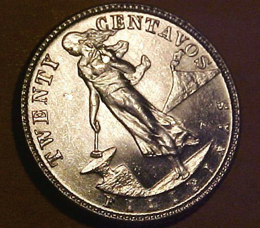 1945-D Philippines 20 Cent minted in the U.S. ~Gem Uncirculated  ☆Make An Offer☆