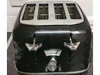 Delongi black 4 slice toaster
