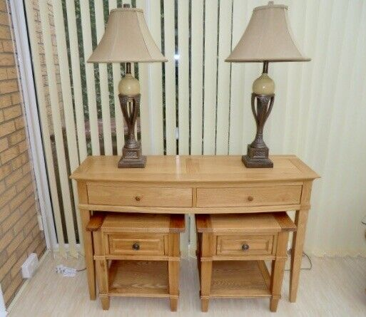 the latest 5a133 9dedc Price Separately - Barker & Stonehouse Solid Oak Console Table and Lamp  Tables | in Hartlepool, County Durham | Gumtree