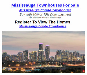 Mississauga Condo Townhouse Buy with 10% or 15% Downpayment !