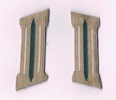 Wehrmacht Kragenspiegel Geformt WH Weiß WK2 Infanterie