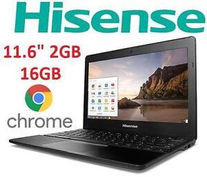 "REFURB HISENSE 11.6"" CHROMEBOOK PC PC NOTEBOOK COMPUTER - ELECTRONICS - 11.6"" - CORTEX A17 CHIP - 2GB - 16GB 101312849"