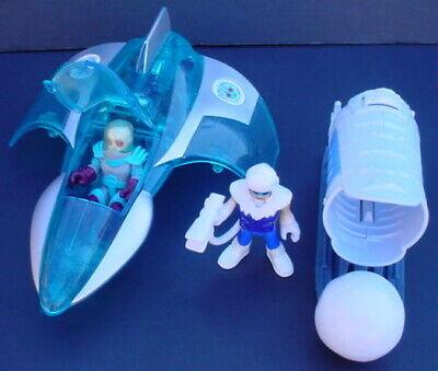 Imaginext DC Super Friends LOT MR FREEZE JET Figure CAPTAIN COLD ICE CANNON Work