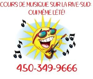 Cours de musique! Oui même l'été!