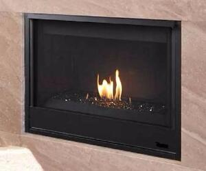 GAS FIREPLACE - CONTEMPORARY GLASS BURNER