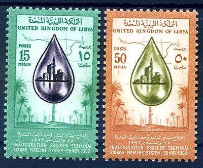 LIBIA INDIPENDENTE 1962 -  OLOEDOTTO ESSIDER  SERIE  NUOVA **