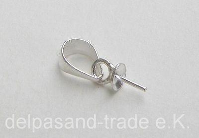Silber Sterling 925 Anhänger, Aufhänger mit Stift, für Edelsteine, Pendant, K92