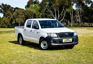 2012 Toyota Hilux TGN16R MY12 Workmate Double Cab White 5 Speed Manual Utility Medindie Walkerville Area Preview