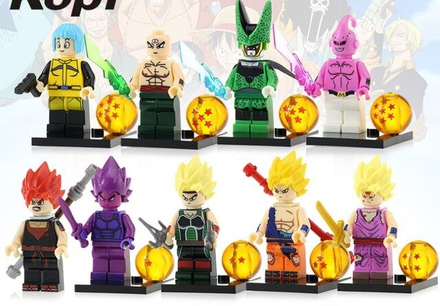 Count:9pcs:32pcs Dragon Ball Z Action Figure Super Goku Building Blocks For Lego Toy Heroes