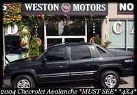 2004 Chevrolet Avalanche MUST SEE* 4X4* SUNROOF* DVD* LEATHER*