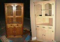 Refinish your old well built furniture