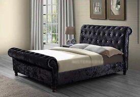 SINGLE(3FT)/DOUBLE(4FT6'')/KINGSIZE(5FT) SLEIGH BEDS