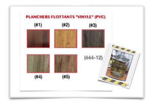"""(444-12)  PLANCHER FLOTTANT """"VINYLE"""" PRIX RÉDUIT!  2.09$ /P.C"""
