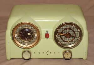 Crosley Dashboard vintage radio 1950 bakelite white.