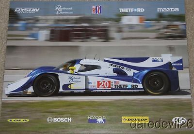 2012 Dyson Racing #20 Mazda Lola LMP1 Streets of Long Beach ALMS postcard
