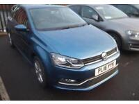 2016 Volkswagen Polo Match 1.2 TSI 90PS 7-speed DSG 5 Door Petrol blue Semi Auto