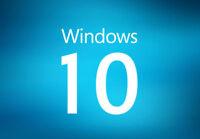 Microsoft Windows 10 Home / Pro & 32 / 64 bit