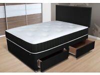 Double divan bed - brand new - free headboard