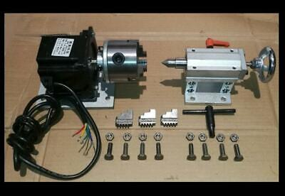 Cnc Router Rotational Rotary Axis A 4th-axis3-jaw Tailstock Nema34steel Frame