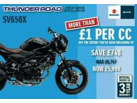 BRAND NEW SV650X WITH 748 OFF