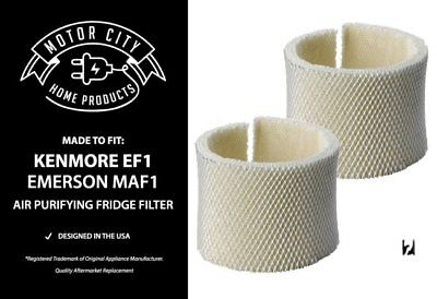 TWO Kenmore 14906 & Emerson MAF1 Humidifier Wick Filters, Part # 42-14906