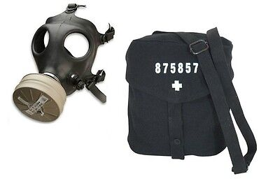 Israeli Gas Mask with New Sealed NBC 40 mm Filter and New Swiss Gas Mask Bag