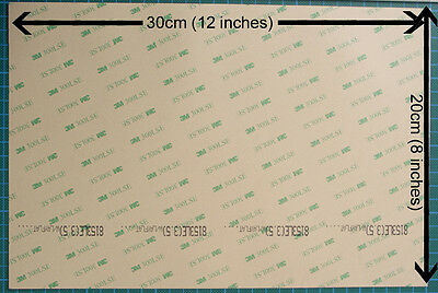 A4 sheet of 3M 8153LE 300LSE Double Linered Laminating Adhesive Transfer