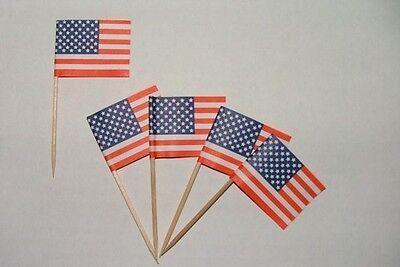 Flaggen Zahnstocher USA Fahne Flagge Minipicker Partyzahnstocher