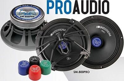 "Soundstream Pro Audio SM.800 300 Watts Power 8"" Pair Mid Range Bass Car Speakers"