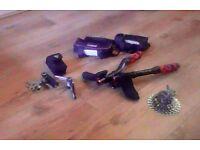 Carbon Triathlon Bars / 28-11 10 speed SRAM cassette / Multi Tool / Food holders for frame
