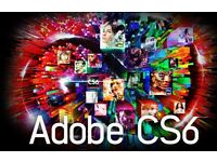 ADOBE CS6 MASTER MAC + PC PHOTOSHOP ILLUSTRATOR INDESIGN AFTER EFFECTS ACROBAT