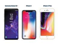 Wanted iphone x 8 plus 7 plus 6s 6 samung s9 plus s8 note 8 new used faulty working
