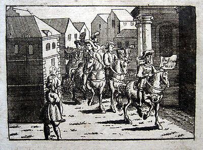 Münster 1624: Verkündung des Westfälischen Friedens Osnabrück Orig.-Kupferstich