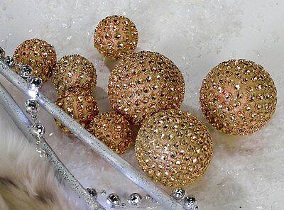 Dekoball Diamond gold Kunststoff 8tlg Set