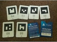 PS Vita AR play cards