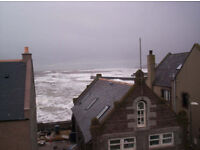 Fully Furnished 10 miles south of Stonehaven with SEA VIEWS OVER GOURDON HARBOUR available now.