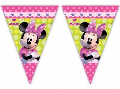BOWTIQUE PARTY BUNTING BANNER  - 2.3 metres long LARGE FLAGS (Minnie Bowtique Party)