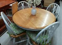 Dining Set with 4 Chairs and Leaf