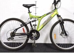 Triumph Cliffhanger by Raleigh 21-Speed DS FRONT DISC Bike