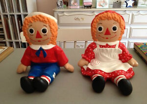 Raggedy Ann and Andy Ceramics