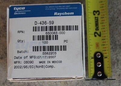 New Box 100 Tycoraychem Heat Shrink Tubing Sleeves D-436-59 Splice Conductor
