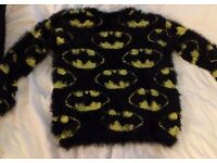 Fluffy Batman Sweater