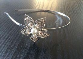 Side style flower tiara