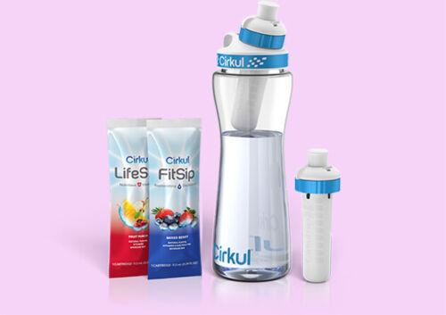 Cirkul Hydration Pack Water Bottle 22 oz Free Shatter Proof+2 Flavor Cartridges
