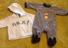 Massive bundle of newborn boys clothes mostly Next