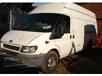 2002 FORD TRANSIT 2.4 125 PSI 350 DIESEL LWB HIGH TOP JUMBO PANEL VAN BREAKING SPARES ALL PARTS
